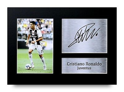 Cristiano Ronaldo Gift Signed A4 Printed Autograph Juventus Gifts Print Photo