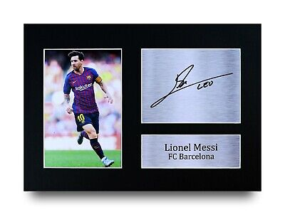 Lionel Messi Gift Signed A4 Printed Autograph Barcelona Gifts Print Barca Photo