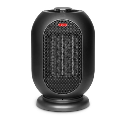 Portable Space Heater 1200W / 700W Small Personal Ceramic Black For Home Office
