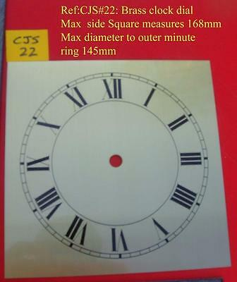 REF22/2 :cjsd#22  Replacement  brass square  clock dial  168mm od
