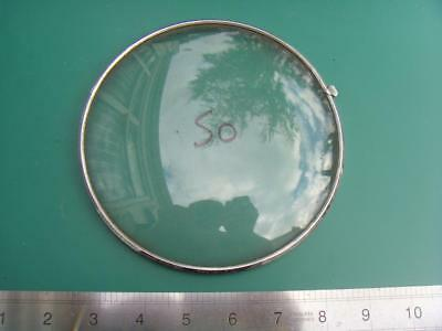 OS#50 1930'S Mantle Clock Part Bezel & Convex Glass max outer dia 158mm