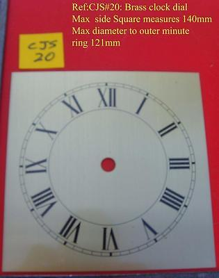 27/2:cjsd#20  Replacement  brass square  clock dial 140mm od