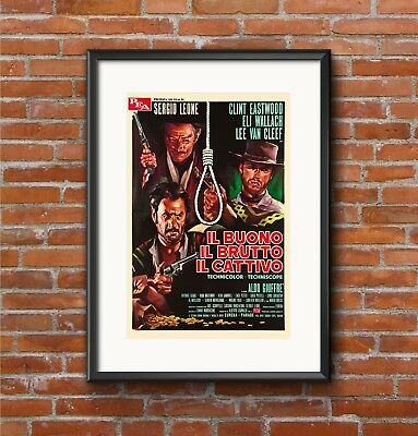 The Good The Bad and The Ugly | Quality A3 Movie Poster Art Gift Clint Eastwood