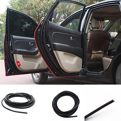 Black 6M U-Shape Car Truck Van Door Edge Guard Trim Protector Molding Strip UK