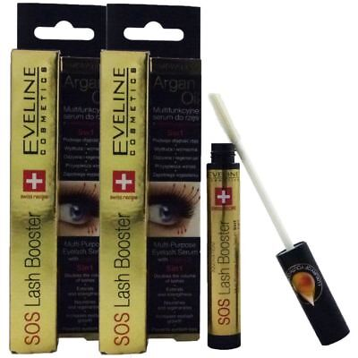 Eveline Cosmetics SOS Lash Booster 2 x 10ml Eye Lashes Wimpernserum Wachstum Set