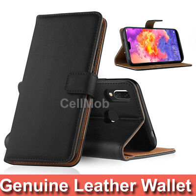 Case Cover For Huawei P20 Pro P Smart P20 Lite Genuine Real Leather Flip Wallet
