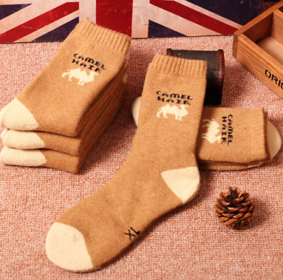 3pairs New Mens/Womens Warm Camel Outdoor Winter Cold Weather Wool Socks