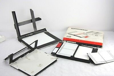 LOT: 3x enalarging easels:JOBO Varioformat with test strip,DURST Comask & 10x8""