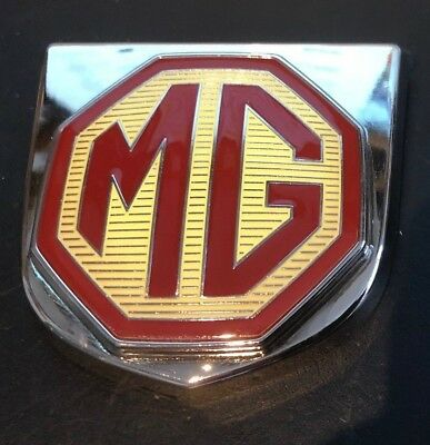 mg mgf front grille badge with crome backing and locating lugs, with 3m backing
