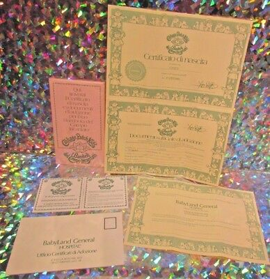 CABBAGE PATCH KIDS Birth Certificates LOT of FOUR Aaliyah