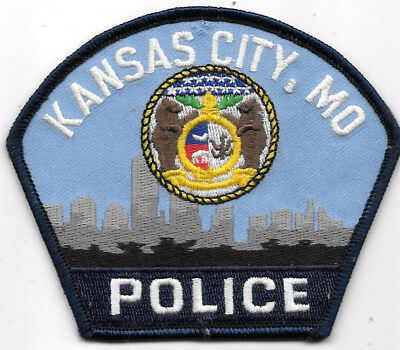 "Police Patch: Kansas City Missouri Police Patch Measures 4"" X 3 1/2"""