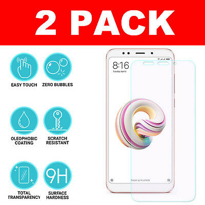 2 Pack Genuine Tempered Protective Glass Screen Protector For Xiaomi Phones