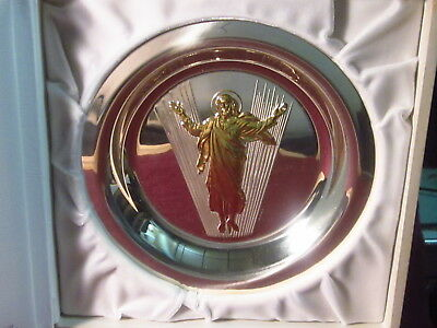 Franklin Mint The Resurrection by Evangelos Frudakis 1973 Sterling Silver Plate