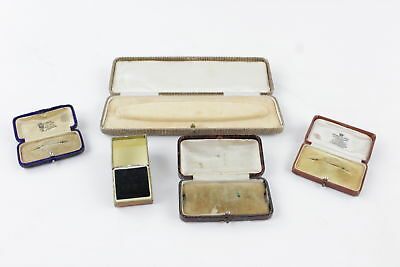 5 x Antique & Vintage Jewellery Boxes inc. Branded Boxes - Perfect For Display