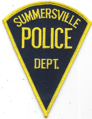"""Police Patch: Summersville West Virginia Police Department 3 1/2"""" X 5"""""""