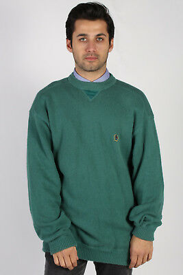 c7284be7 VINTAGE TOMMY HILFIGER Round Neck Jumper 90s Casual Sweater Tops L ...