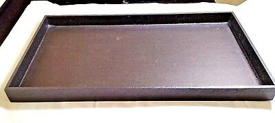 """1"""" High Wooden Jewelry Tray Leatherette Covered Display Tray"""