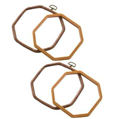2 Packs Embroidery Hoops Cross Stitch Embroidery Octagon Set for Handy Art U6D6