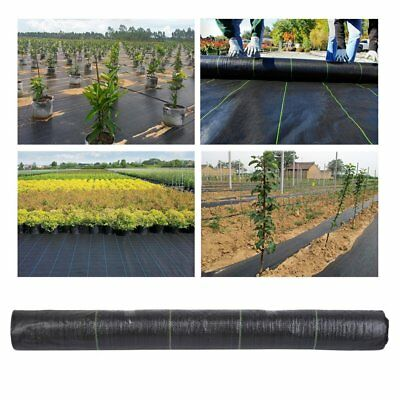 1M X 50M 100gsm Weed Control Fabric Ground Cover Garden Membrane landscape mulch