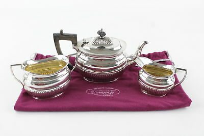 Set of 3 Antique Silver Plate Tea Set By Mappin Brothers 941g