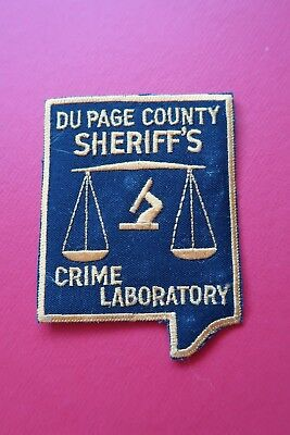 NEW / UNUSED - VINTAGE- DuPAGE COUNTY SHERIFF CRIME LAB, ILLINOIS - POLICE PATCH