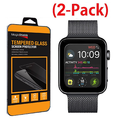 2-Pack For Apple Watch Series 4 Tempered Glass Screen Protector 40mm 44mm