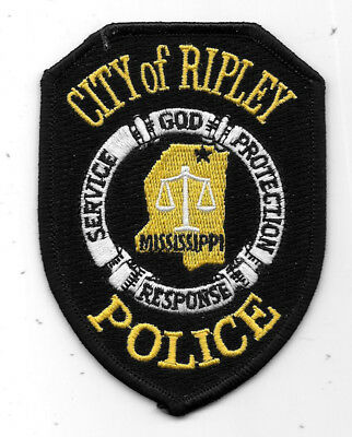 """Police Patch: City Of Ripley Mississippi Police Patch - Measures 3"""" X 4"""""""