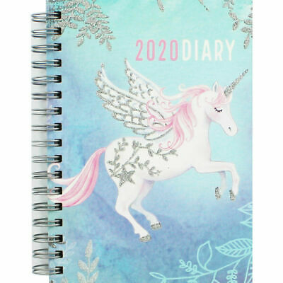 Spiral Bound A6 Unicorn Week to View Diary 2020