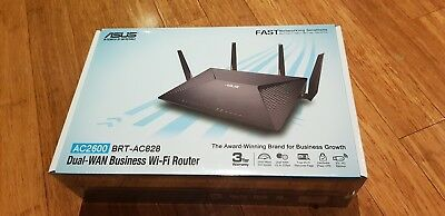 ASUS BRT-AC828 Dual-Band AC2600 Business WiFi Router 8 x Gigabit LAN *Brand New*