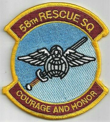 Usaf 58Th Rescue Squadron  Patch -   'courage And Honor'                  Color