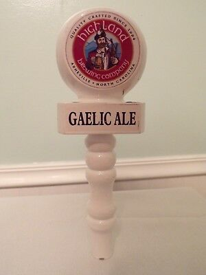 HIGHLAND BREWING ~ St Terese/'s Pale Ale ~ Beer Tap Handle ASHEVILLE NC Bagpipes