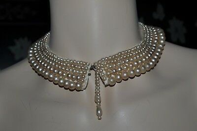 Vintage Faux Pearl Collar Necklace