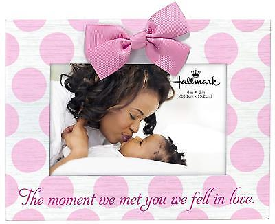 Hallmark Collectible 4x6 Baby Photo Frame- Moment We Met, Choice of Pink or Blue