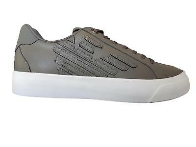 8feaa9116924 Chaussures EA7 Emporio Armani 7 Baskets basses Homme X8X004 EA Gris Cuir  Sport