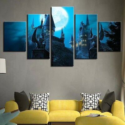 HD MODERN Movie pictorial HUGE WALL ART OIL PAINTING Harry Potter Castle