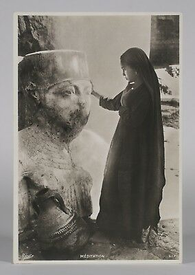 Fine Orientalist Photograph by Andreas D.Reiser - Egyptian Woman-Ancient Statue