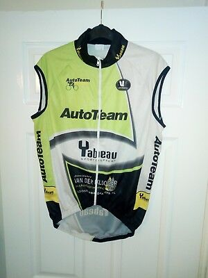 2b4bf352e Vintage Vermarc Sport Cycling Jersey Shirt Top Size M Sleeveless AutoTeam