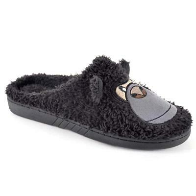 Mens Slippers New Fur Novelty Bear Claw Gorilla Slippers Winter Warm Shoes Size