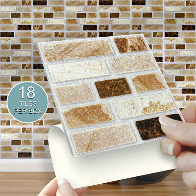 18 Stone Tablet 4 x 4 Stick On Self Adhesive Tile Stickers Kitchen & Bathroom