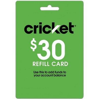 Cricket Wireless $30 Refill Card with Free Shipping