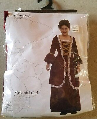 N Child Underwraps Colonial Girl Halloween Costume Size L