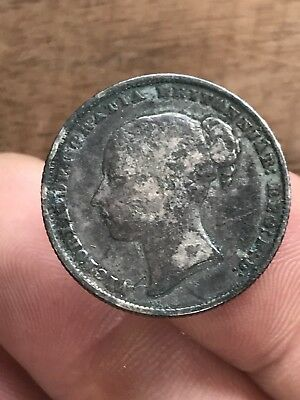 1860 Great Britain Young Head Shilling Silver Coin