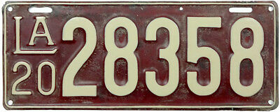 1920 LOUISIANA license plate (GIBBY GOOD)