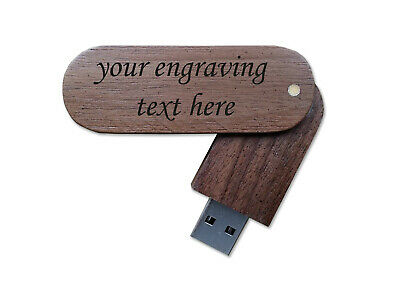 Wooden USB flash memory drive Laser engraved 8GB