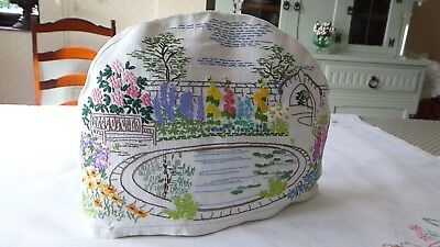 Vintage Hand Embroidered Tea Cozy/teapot Cover- Beautiful Raised Embroidery