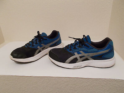 7dee10cc4038 Men s Asics Stormer Blue Black Running Sneakers Shoes T741S Size 10