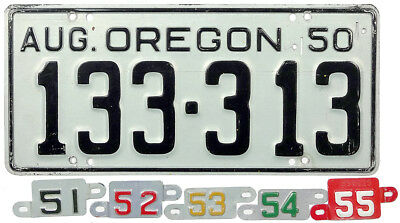 1950 1951 1952 1953 1954 1955 OREGON license plate (GIBBY CHOICE)