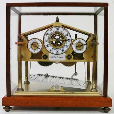 Rare Vintage Fine Quality English Small Congreve Mystery Automation Table Clock