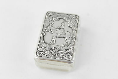 Vintage Stamped .925 Sterling Silver SNUFF BOX 1953 Coronation 30g
