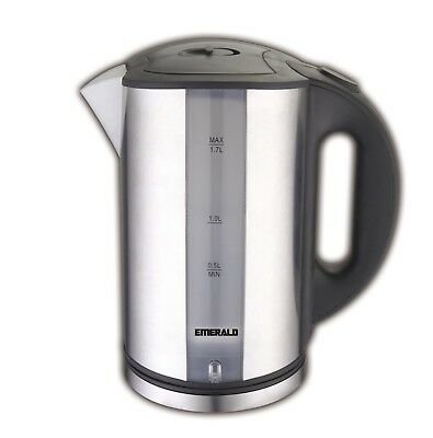 Emerald 1.7L Stainless Steel Electric Tea Kettle with LED (1331)